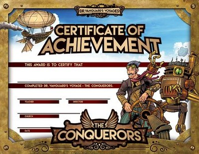 The Conquerors VBS 2016: Achievement Certificate, pack of 25    -