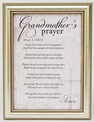 Grandmother\'s Prayer Framed Art, Silver - Christianbook.com