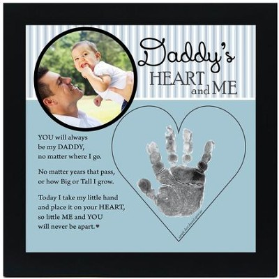 Daddy, Hand In Heart Photo Frame  -