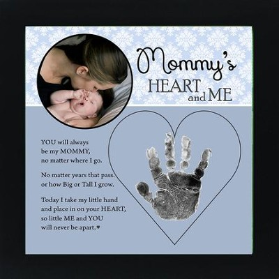 Mom, Hand In Heart Photo Frame  -