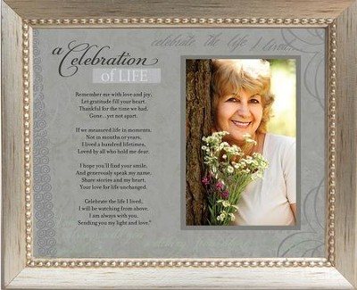 Celebration of Life, Framed Print, Silver  -