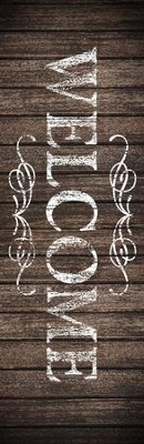 Rustic Charm Welcome Vinyl Banner (2 x 6)  -