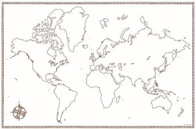 World Map, Beautiful Feet Books   -     By: Beautiful Feet Books