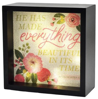 He Has Made Everything Beautiful, LED Lighted Art   -