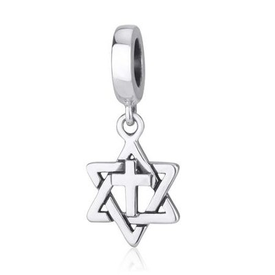 Star and Cross Hanging Charm Bead  -     By: Marina