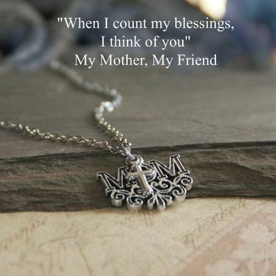Mom, Cross Necklace  -