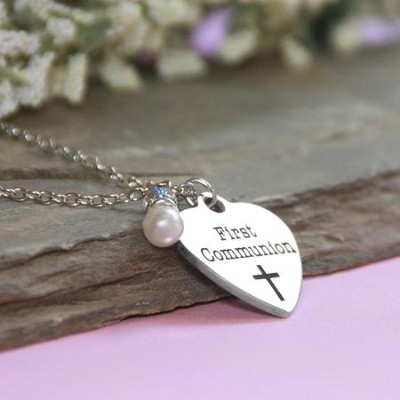 First Communion, Disk Necklace  -