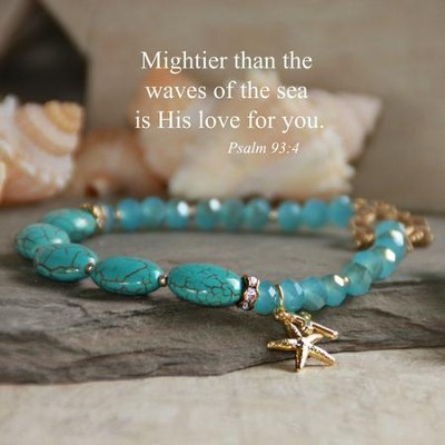 Mightier Than the Waves Of the Sea Bracelet  -