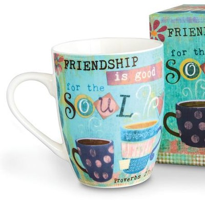 Friendship is Good For The Soul, Mug With Gift Box  -     By: Mollie B