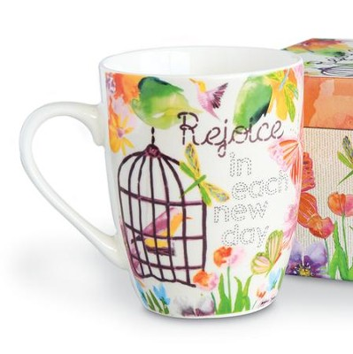 Rejoice in Each New Day, Mug With Gift Box  -     By: Caroline Simas