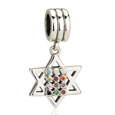 Priestly Breastplate Star Hanging Charm Bead  -     By: Marina