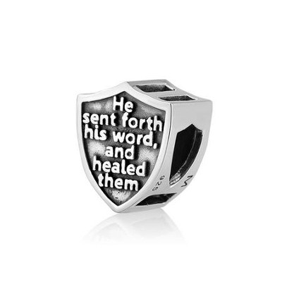 He Sent Forth His Word and Healed Them Charm Bead  -     By: Marina