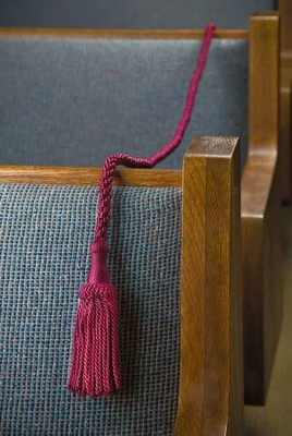 Weighted Pew Rope, Burgundy 8 foot  -