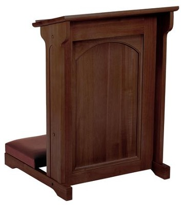 Abbey Kneeler, Walnut Finish  -