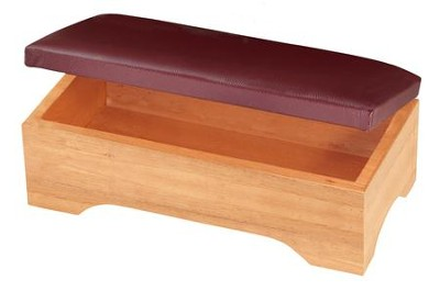 Personal Kneeler with Storage, Pecan Finish  -