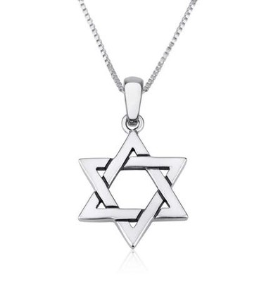 Star of David Pendant with 18 Chain   -     By: Marina