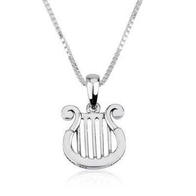 David's Harp Pendant with 18 Chain   -     By: Marina