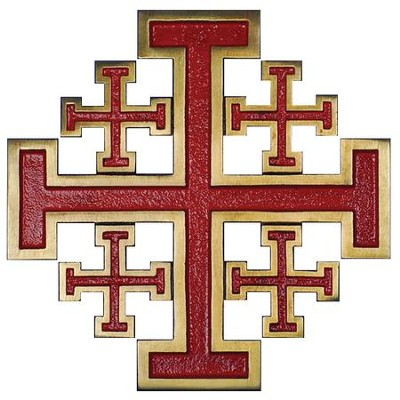 New Jerusalem Wall Cross, Red  -