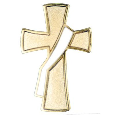 Deacon Cross Pin, White Sash  -