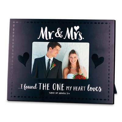 Mr. & Mrs. Photo Frame - Found the One                                 -