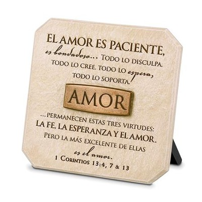 Love (Amor), Spanish Sculpted Plaque   -