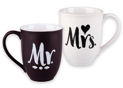 Mr. & Mrs. Ceramic Mug Set - Found the One                       -