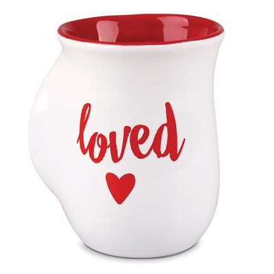Loved, Handwarmer Mug, White                                      -