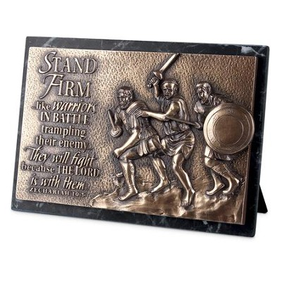 Stand Firm, Sculpted Plaque   -