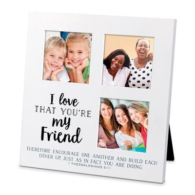I Love That You Are My Friend, Small Collage Frame   -