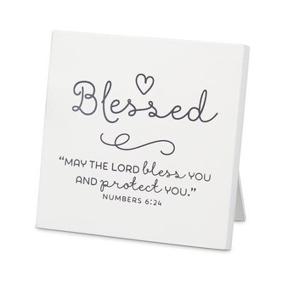 Blessed Baby Plaque (Psalm 127:3)(4 x 4)  -