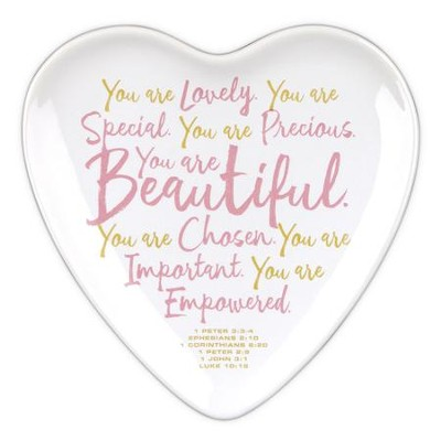 You Are Beautiful Heart Tray Christianbookcom