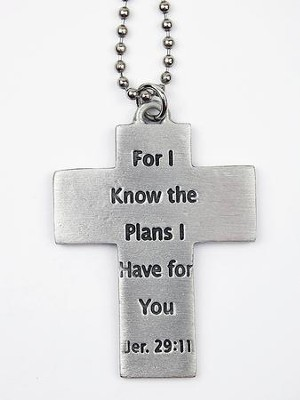 Cross, For I Know the Plans, Car Charm  -