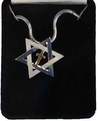 Star of David and Cross Necklace  -