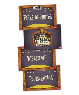Event Signs Poster Pack, set of 4   -