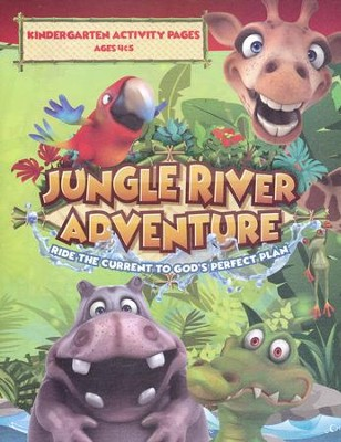 Jungle River Adventure: Kindergarten Activity Pages with Stickers  -