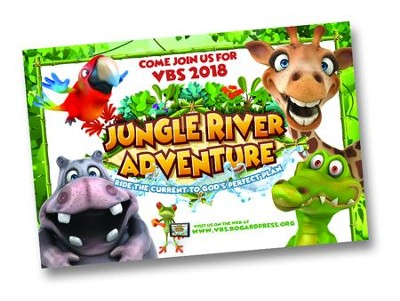 Jungle River Adventure: Postcards, pack of 25  -
