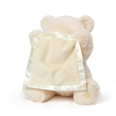 My First Teddy Peek A Boo, Cream, 11.5&#034  -