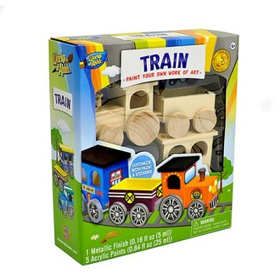 Classic Wood Paint Kit: Toy Train  -
