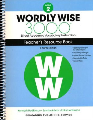 Wordly Wise 3000 Book 2 Teacher's Guide (4th Edition)  -