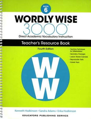 Wordly Wise 3000 Book 6 Teacher's Guide (4th Edition)  -