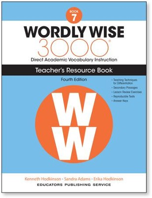 Wordly Wise 3000 Book 7 Teacher's Guide (4th Edition)  -