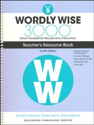 Wordly Wise 3000 Book 9 Teacher's Guide (4th Edition)  -