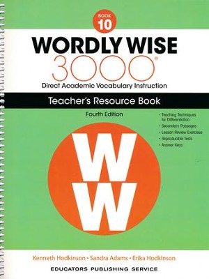 Wordly Wise 3000 Book 10 Teacher's Guide (4th Edition)  -