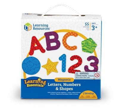 Magnetic Letters, Numbers & Shapes, 55 Pieces  -