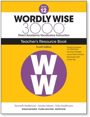 Wordly Wise 3000 Book 12 Teacher's Guide (4th Edition)  -