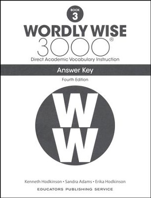Wordly Wise 3000 Book 3 Key 4th Edition  -