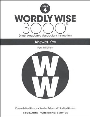 Wordly Wise 3000 Book 4 Key (4th Edition)  -