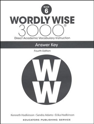 Wordly Wise 3000 Book 6 Key (4th Edition)  -