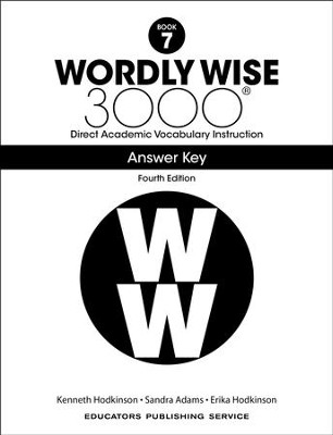 Wordly Wise 3000 Book 7 Key (4th Edition)  -