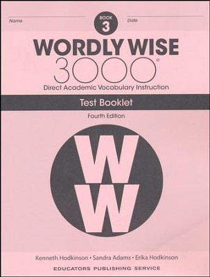 Wordly Wise 3000 Book 3 Tests (4th Edition)  -